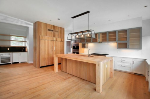 Kitchen Designs With Laminat Wood Cabinets