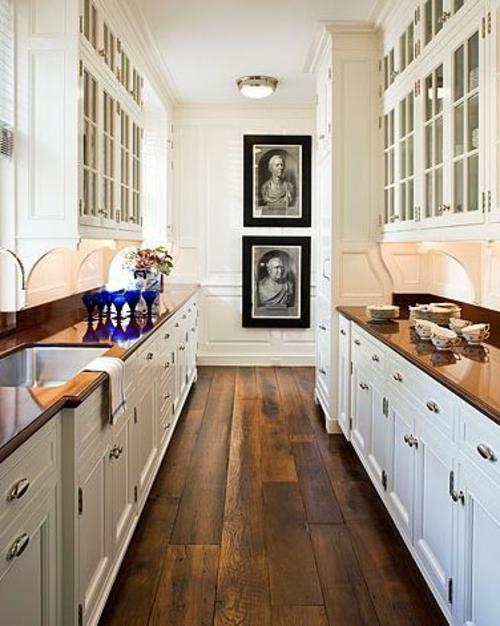 holzboden in der küche grobe holzdielen