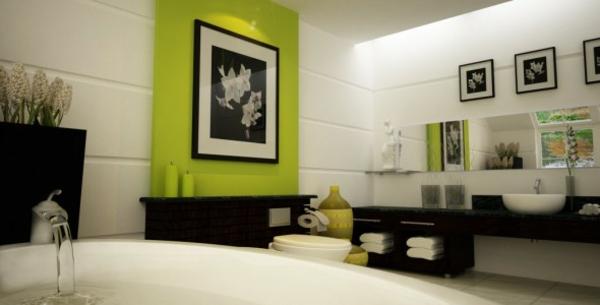 hygiene im bad apfel grüne wandpaneele