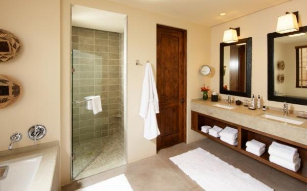 hygiene im bad duschkabine schwebende waschkommode