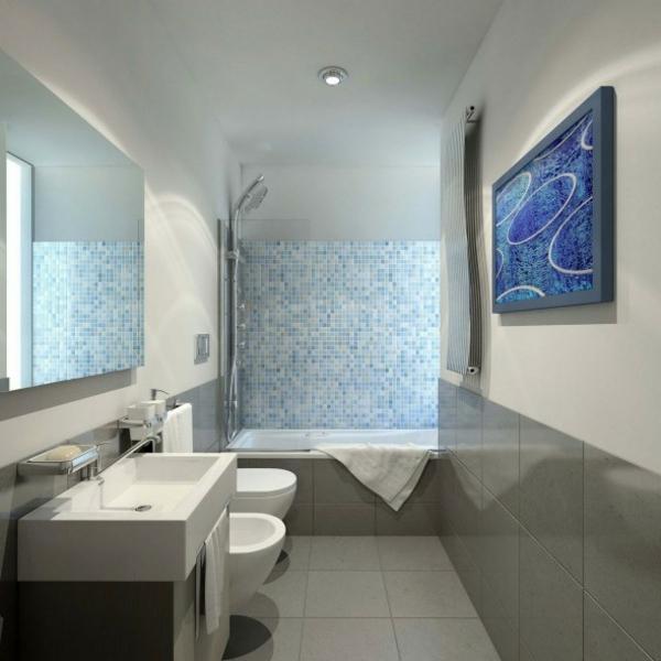 Badezimmer Farbe Grau: Badfliesen Ideen (. Bilder) Roomido ... Badezimmer Fliesen Taupe Beige