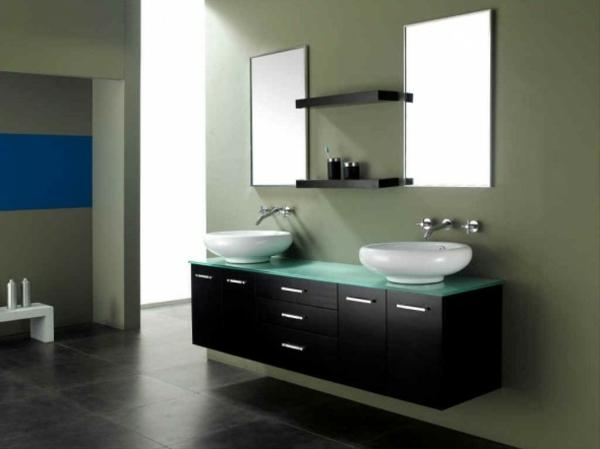 hygiene im bad minimalistisch schüsselförmige waschbecken