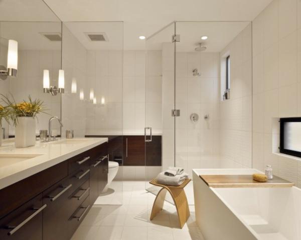 hygiene im bad nussbaumholz schränke glas badewanne