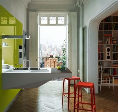 italienische küchenmöbel - minimalistisches design von snaidero, Kuchen