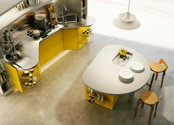 küchenmöbel kücheninsel oval holzstühle