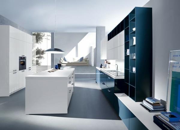 italienische küchenmöbel kochinsel weiß