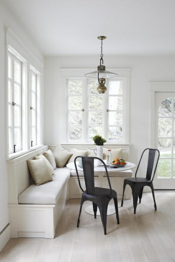 küche design esstisch stühle sitbank fenster schwarz stuhl