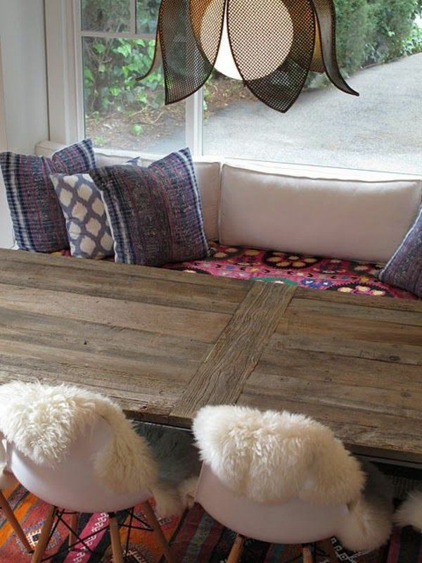 küche design esstisch stühle sitbank küchenbank tradition gebräuche
