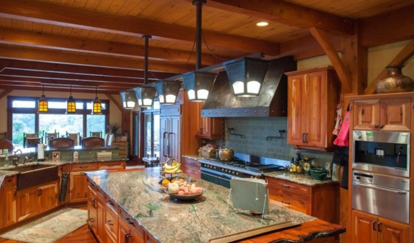 küchendesigns granit arbeitsplatte helles holz