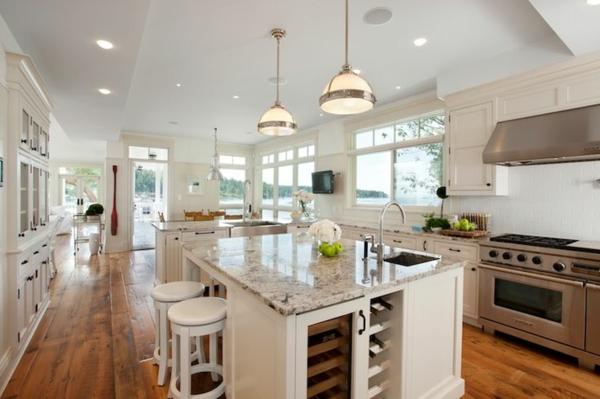 küchen designs kücheninsel weinregale