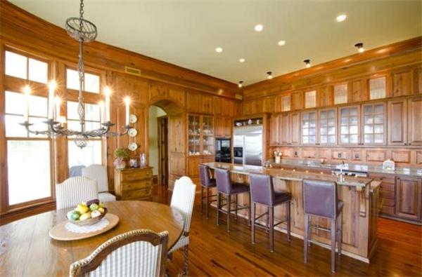 küchen designs leder barstühle lila