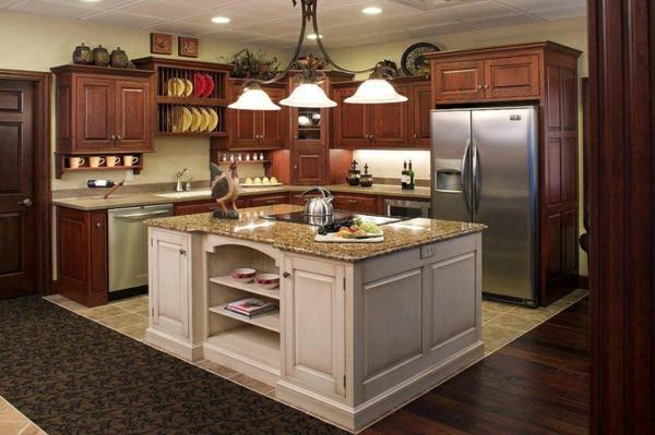 küchen designs marmor arbeitsplatte kücheninsel