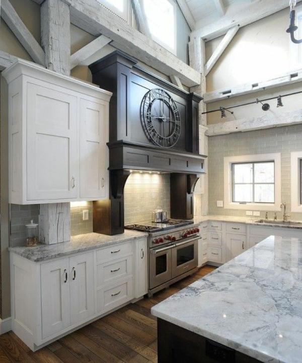 küchen designs weiße küchenschränke marmor arbeitsplatten