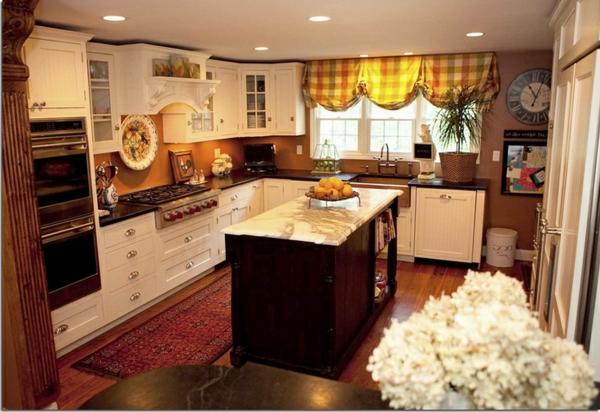 küchengardinen bunt kariert pastellfarben