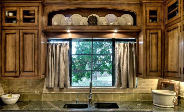 küchen gardinen neutrale farben beige vorhänge