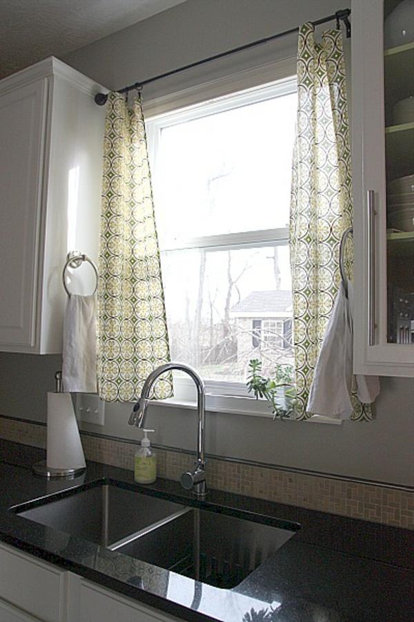 küchen gardinen retro muster dünner stoff