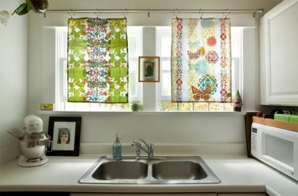 küchen gardinen stange stahl ringe schmetterlinge