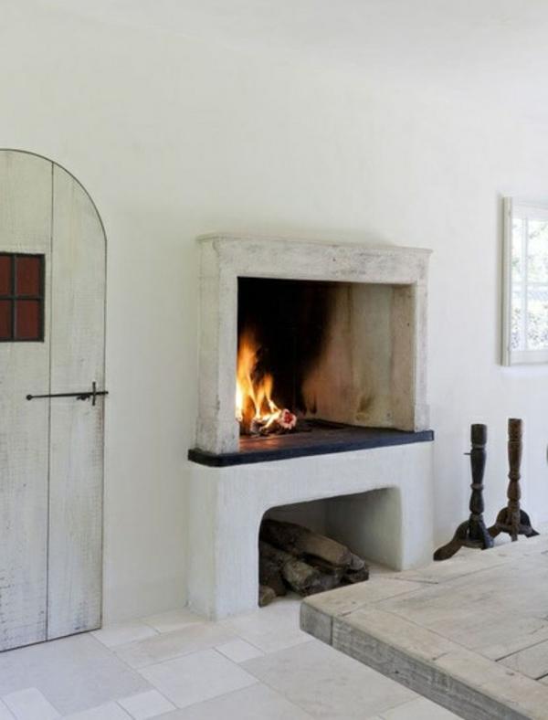 küchen kamin rechteckig weiß puristisch