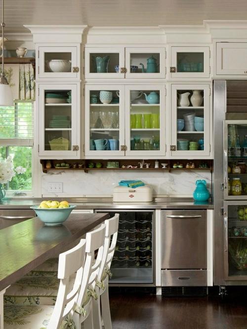 küchenschrank vitrine platte esstisch stühle auflagen sitzplatz