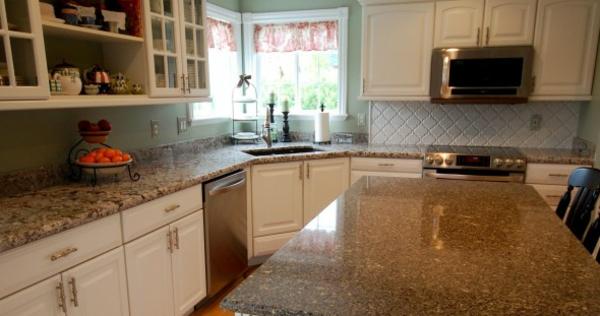 küchentrends 2014 grauer granit mosaikoptik