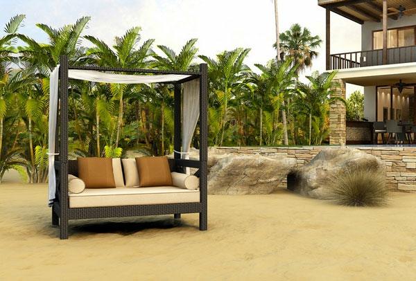 korbmöbel balinesisches bett sofa