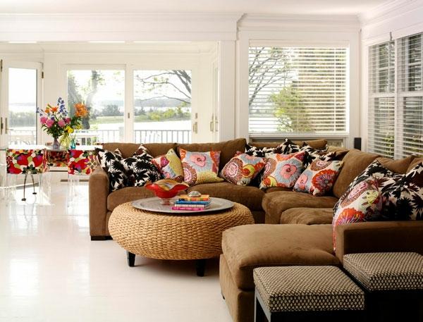 Genial Cool Sofa Braun Wohnzimmer Mit Steinwand Ideen Wohnzimmer Braune  Couch With Wohnzimmer Mit Brauner Couch