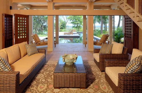 Elegante Korbmöbel für Innen und Außen