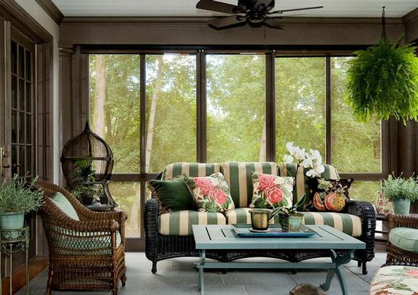rattanmöbel rattansessel couch weiche polsterung breite streifen