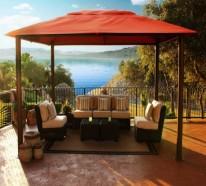 Lounge Gartenmöbel im minimalistischen Stil
