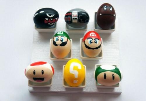 lustige ostereier computerspiele figuren