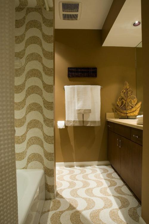 luxus interieur badezimmer wellen muster