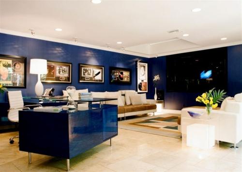 luxus interieur kobaltblau hochmodern