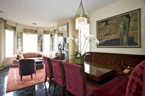 luxus interieur offener plan samtige polsterung