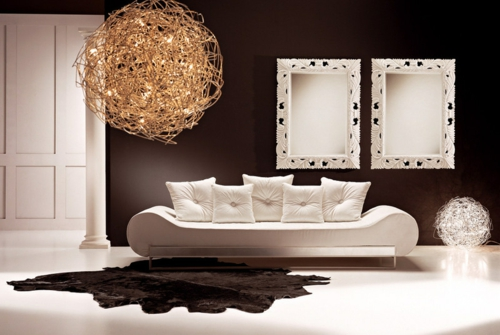 Luxusinterieur Wohnzimmer Designer Sofa Weiß
