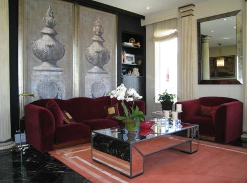 luxus interieur wohnzimmer fototapete antik