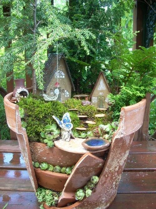 kreativer minigarten 16 originelle baselideen aus alten. Black Bedroom Furniture Sets. Home Design Ideas