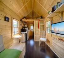 Ein DIY mobiles Haus mit gemütlichem Interieur