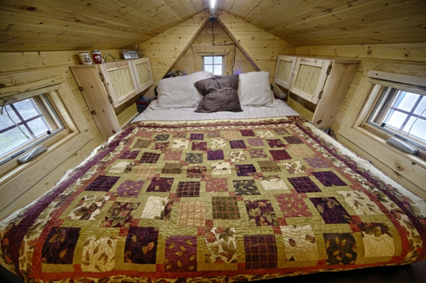 mobiles haus quilt tagesdecke