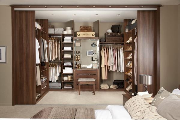 moderne kleider schränke begehbar im schlafzimmer
