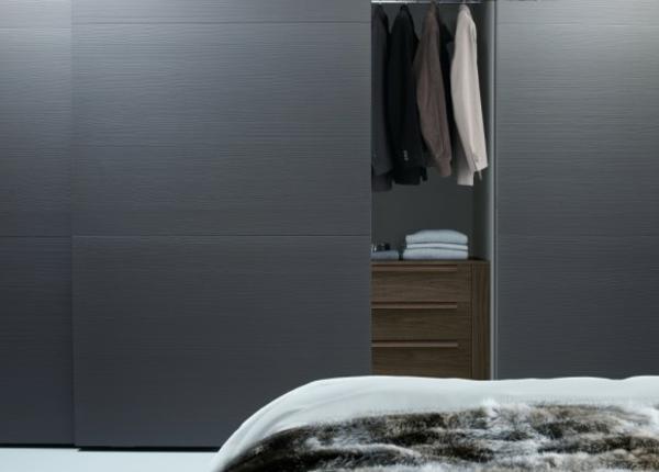 moderne kleiderschränke glatt in grau