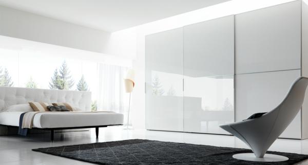 moderne kleider schränke weiße hochglanz paneele