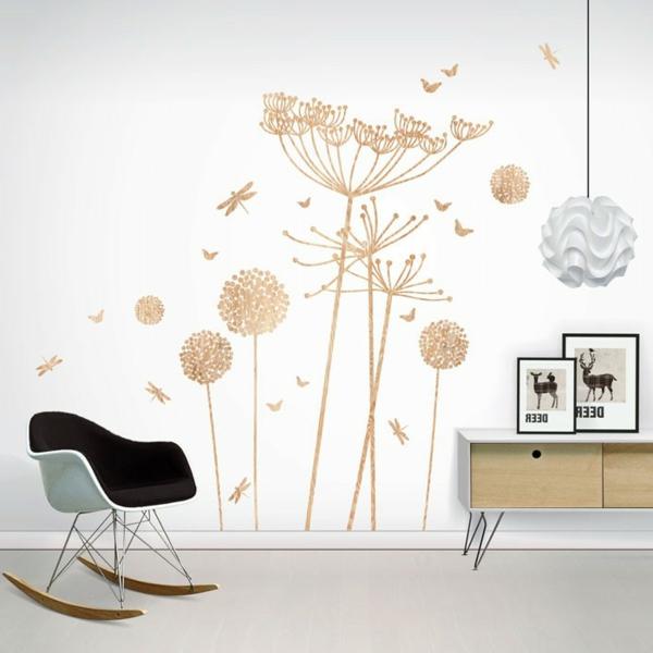 moderne wandtattoos designer sessel