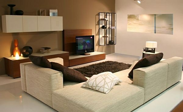 wohnideen wohnzimmer braun grn. Black Bedroom Furniture Sets. Home Design Ideas