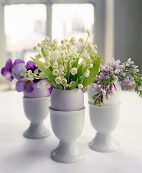 osterdeko basteln kreative vasen und blument pfe aus