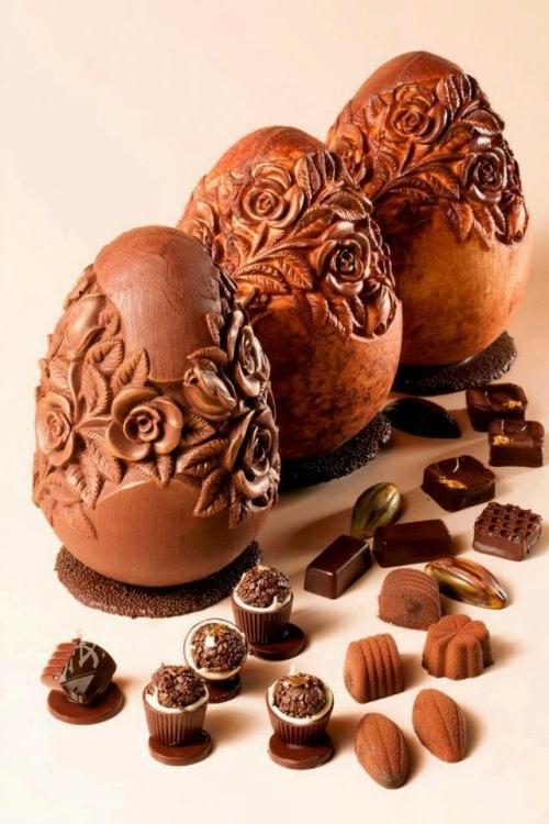 oster eier aus schokolade fein geschnitzt
