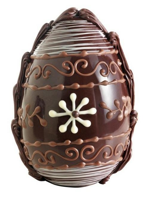 oster eier aus schokolade florale muster