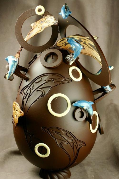oster eier aus schokolade maritimes design delfine