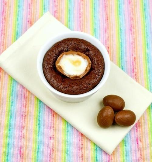 oster eier aus schokolade mini kuchen