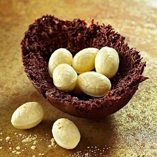 ostereier aus schokolade mini waffel