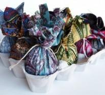 Kreative Ostereier Deko aus Seide